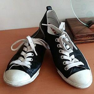 Prada Black Leather Sneakers 6